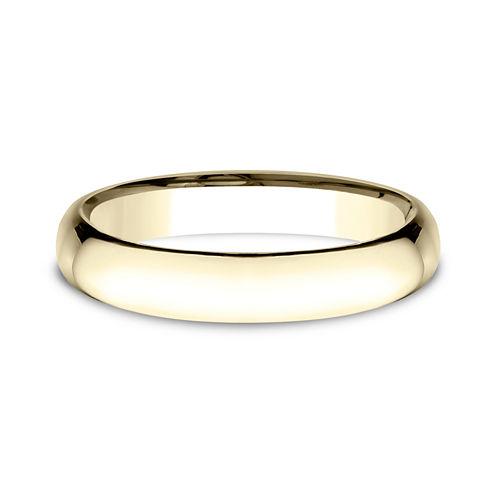 Womens 14K Yellow Gold 4MM Light Comfort-Fit Wedding Band
