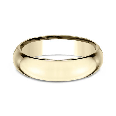 jcpenney.com | Men's 18K Yellow Gold 6MM High Domed Comfort Fit Wedding Band