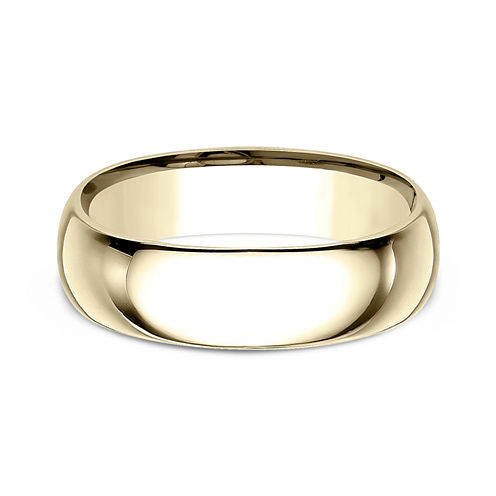 Mens 10K Yellow Gold 7MM Comfort-Fit Wedding Band