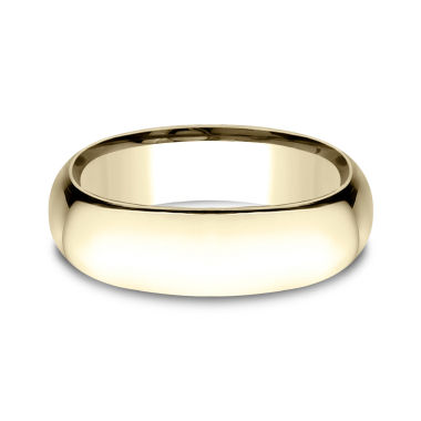jcpenney.com | Men's 14K Yellow Gold 7MM Light Comfort Fit Wedding Band