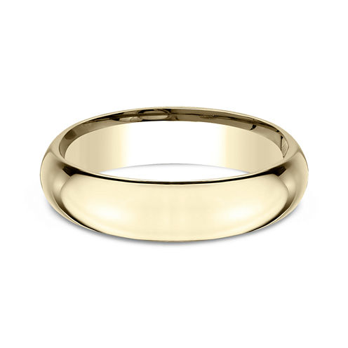 Mens 14K Yellow Gold 5MM High Dome Comfort-Fit Wedding Band