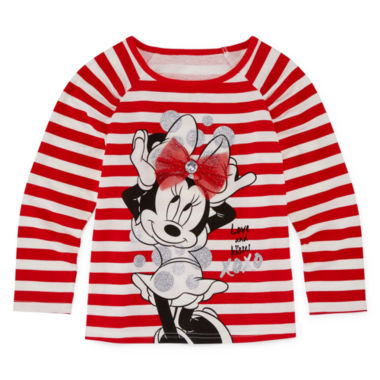 jcpenney.com | Disney By Okie Dokie Girls Minnie Mouse Graphic T-Shirt-Toddler