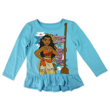 jcpenney.com | Disney By Okie Dokie Girls Moana Graphic T-Shirt-Preschool