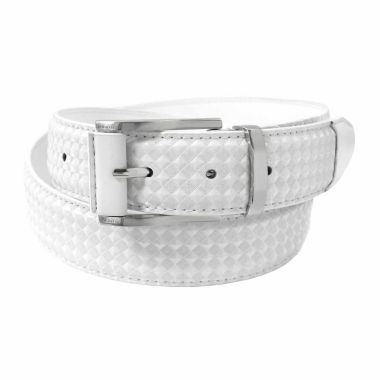 jcpenney.com | Stacy Adams Brushed Nickel Buckle Keeper Pattern Belt
