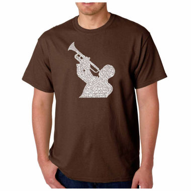 jcpenney.com | Los Angeles Pop Art  Jazz Songs Short Sleeve Crew Neck T-Shirt-Big And Tall