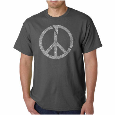 jcpenney.com | Los Angeles Pop Art World Conflict Short Sleeve Crew Neck T-Shirt-Big And Tall
