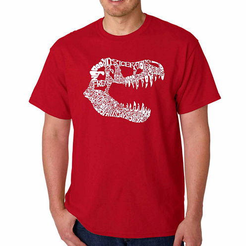 Los Angeles Pop Art Trex Short Sleeve Crew Neck T-Shirt-Big And Tall