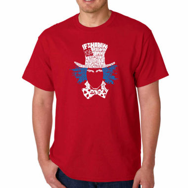 "jcpenney.com | Los Angeles Pop Art Short Sleeve "" The Mad Hatter"" Crew Neck T-Shirt-Big and Tall"