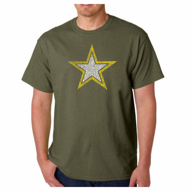 "jcpenney.com | Los Angeles Pop Art ""Lyrics to the Air Force Song"" Crew Neck T-Shirt-Big and Tall"