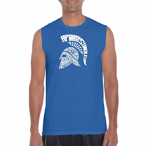 Los Angeles Spartan Sleeveless Crew Neck T-Shirt-Big and Tall