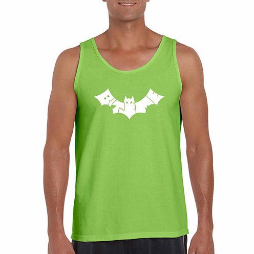 Los Angeles Pop Art Bat -Biteme Short Sleeve Crew Neck T-Shirt-Big and Tall