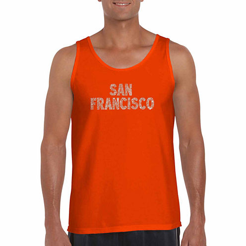 Los Angeles Sanfrancisco neighborhoods Short Sleeve Crew Neck T-Shirt-Big and Tall