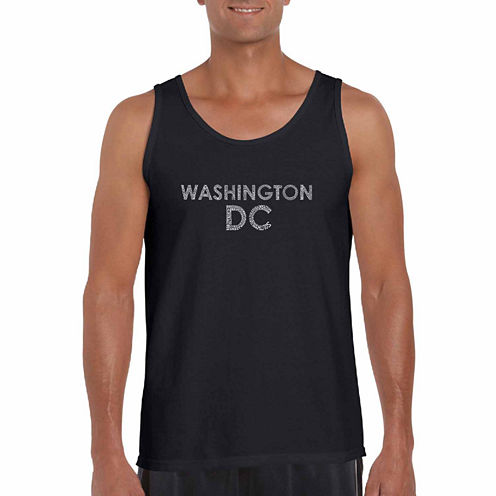 "Los Angeles Pop Art ""Washington Dc Neighborhoods"" T-Shirt-Big And Tall"