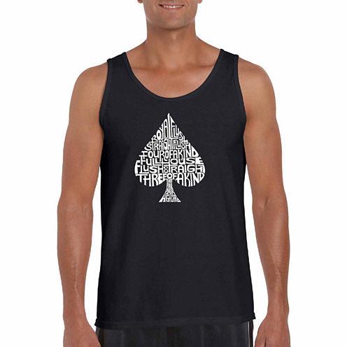 "Los Angeles Pop Art ""Order Of Winning Poker Hands"" T-Shirt-Big And Tall"