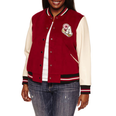 jcpenney.com | Arizona Varsity Jacket Juniors Plus