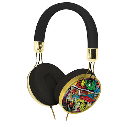 KIDdesigns Marvel Comic Fashion Over-the-Ear Headphones