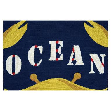 jcpenney.com | Couristan Gone Crabbing Hooked Rectangular Rugs