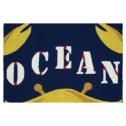 Couristan Gone Crabbing Hooked Rectangular Rugs