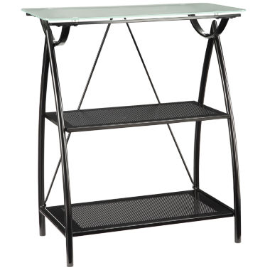 jcpenney.com | Newport 2-Shelf Bookshelf with Frosted Tempered Glass Top