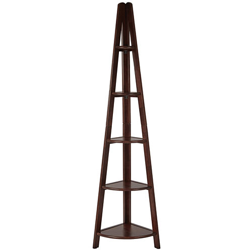 Corner Ladder 4-Shelf Bookshelf