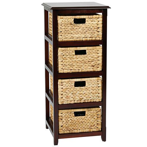 Seabrook 4-Tier Storage Accent Cabinet