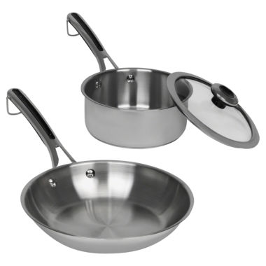 jcpenney.com | Revere 3-pc. Stainless Steel Frying Pan
