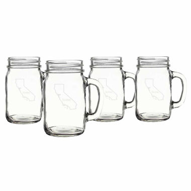 jcpenney.com | Cathy's Concepts Home State 4-pc. Mason Jar