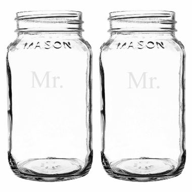 jcpenney.com | Cathy's Concepts Mr. & Mr. 2-pc. Mason Jar