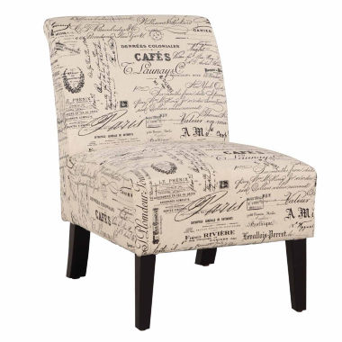 jcpenney.com | Lily Script Fabric Slipper Chair