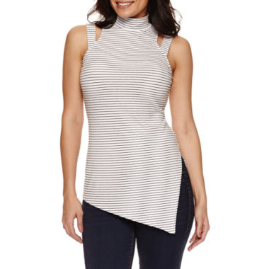jcpenney.com | Bisou Bisou Mock Neck Assymetrical Top