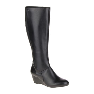 b74003d5266 Hush Puppies Womens Pynical Rhea Riding Boots Wedge Heel Zip - JCPenney