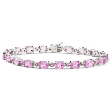 jcpenney.com | Lab-Created Pink Sapphire & Diamond-Accent Tennis Bracelet
