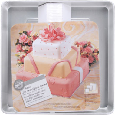 "jcpenney.com | Wilton® 3-Tier 2""Cake Pan Set"