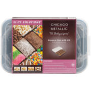 """Chicago™ Metallic Slice Solutions 9x13"""" Brownie Pan with Lid and Divider"""
