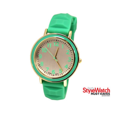 jcpenney.com | Womens Silicone Pyramid Strap Watch