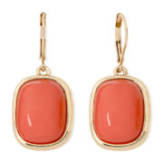 Monet® Orange Gold-Tone Drop Earrings