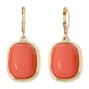Monet® Orange Gold-Tone Drop Earrings