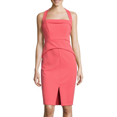 jcpenney.com | Bisou Bisou® Sweetheart Bodice Halter Sheath Dress