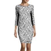 Bisou Bisou® Elbow-Sleeve Lace Sheath Dress