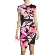 Bisou Bisou® Sleeveless Floral Sheath Dress