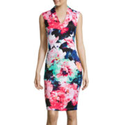 Bisou Bisou® Sleeveless Floral Print Sheath Dress