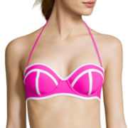 Arizona Solid Push-Up Bandeau Swim Top - Juniors