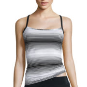 Nike® Racerback Striped Tankini Swim Top