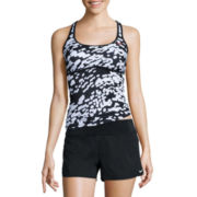 Nike® Geo Racerback Tankini or Solid Briefs, Board Short or Skirted Swim Bottoms
