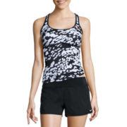 Nike® Geo Racerback Tankini or Solid Briefs, Board Short or Skirted Swim Bottoms