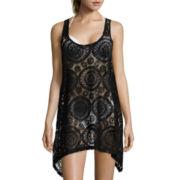 Portocruz® Sleeveless Crochet Shark Bite Dress Cover-Up