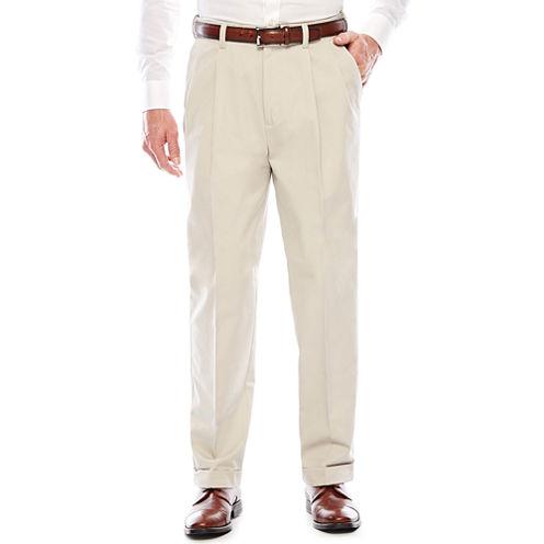 Savane® Khaki Pleated Dress Pants