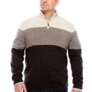 Dockers® Long-Sleeve Colorblock Quarter-Zip Sweater - Big & Tall