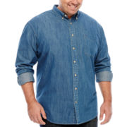 The Foundry Supply Co.™ Long-Sleeve Button-Front Woven Shirt - Big & Tall