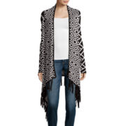Bisou Bisou® Long-Sleeve Fringe Open Cardigan